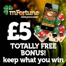 £5 Free at mfortune mobile casino